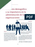 El Análisis Demográfico y Su Importancia en La Administración de Las Organizaciones