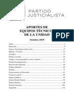 El documento que recibió Alberto Fernández de los equipos del Partido Justicialista