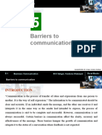 Barriers to Communication