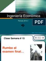 Clase 15 - Ingenieria Economica 2014-1