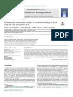 Environmental Performance Analysis of Residential Buildings in Brazil Using Life Cycle Assessment (LCA) (Evangelista-Brasil-2018)
