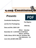Camp Constitution Reading Hour