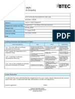 Form 1a - Btec Assignment Brief Rqf