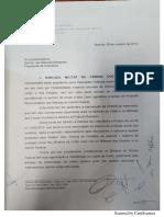 Ofício da bancada da bala para Bolsonaro