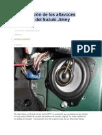 Actualización de Los Altavoces Originales Del Suzuki Jimny