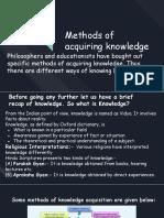 Methods of aquiring knowledge