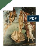 Obra de Sandro Botticelli (Nacimiento de Venus)