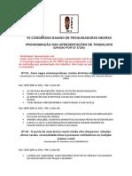 PROGRAMAÇÃO DE APRESENTAÇÕES CBPN 2019
