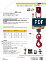 Ficha tecnica Dinamometro Mini Din25