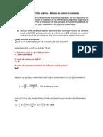 Taller Práctico - Métodos de Control de Inventario.