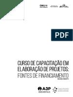 Capacitação em projetos fontes financiamento
