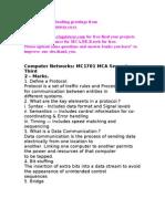 MC1701 Computer Networks