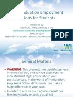 Postgraduation Employment