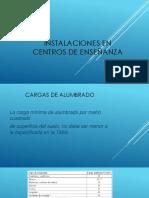 INSTALACIONES EN CENTROS DE ENSEÑANZA
