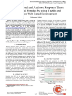 Effects of Visual and Auditory Response Times in Males and Females by using Tactile and Mouse on Web Based Environment