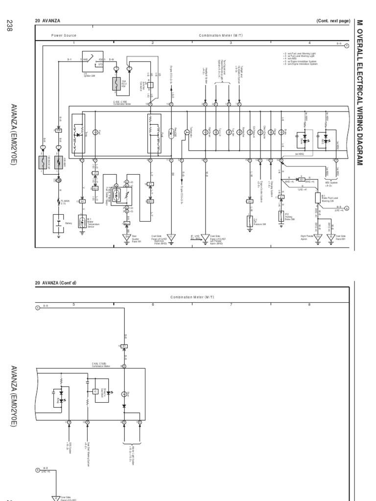 Wiring Diagram Avanza Combination Meter Manual Only Anti Lock Braking System Car