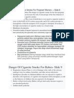 Danger of Cigarette Smoke for Pregnant Women