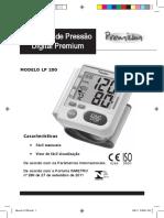 Aparelho de Pressão Digital de Pulso Premium LP200