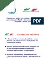 Progetto di Legge UDC- Legge Speciale Abruzzo