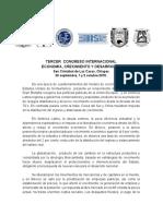3er Congreso Economía, Crecimiento y Desarrollo - COMECSO