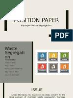 Position Paper - Waste Segregation