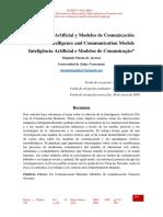 Inteligencia Artíficial y Modelos de Comunicacion
