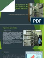 Infraestructura y Reubicación Del Archivo de Historias