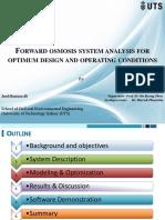 Forward Osmosis System Analysis