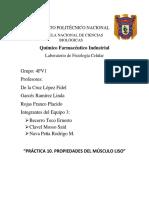 PRÁCTICA 10. PROPIEDADES DEL MÚSCULO LISO