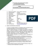 Sílabo Estadística Aplicada Invest. Social II