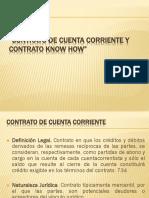 Contrato de Cuenta Corriente y Contrato Know How