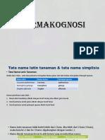 Bab 1 Nama Latin Farmakognosi