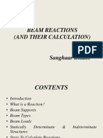 Beam Reactions