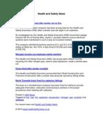 Health and Safety News 16 November 2010