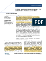 1. Organizational Well-Being in a Public Research Agency- The Point of View of Administrative Staff and Researchers