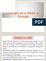 1. Change as a Need or Forced