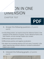 Chapter Test - Motion in 1D