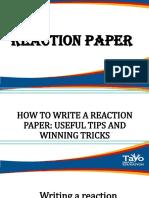 reaction paper ppt