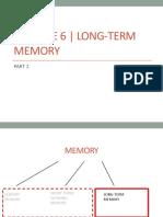 Module6 LongTerm Memory1 Class