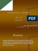 Presentación 1 Introd Bioetica