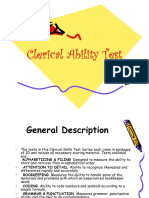 NMAT Clerical Ability Test
