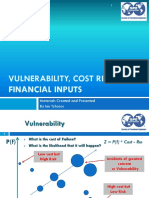 Vullnerability Costs Financial Inputs