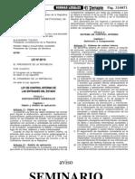 LEY Nº 28716 DE CONTROL INTERNO DE LAS ENTIDADES DEL ESTADO
