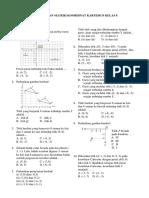 Soal Ulangan Materi Koordinat Kartesius Kelas 8