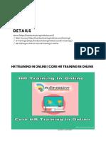 Best HR Online Training Institute _ Best Core HR Online Trainin