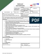 Audit Notification- Emerson