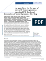 European Journal of Endocrinology] Clinical Practice Guidelines for the Care of Girls and Women With Turner Syndrome_ Proceedings From the 2016 Cincinnati International Turner Syndrome Meet