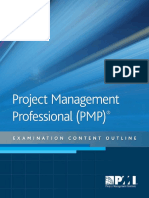 Project Management Professional Exam Outline
