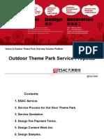 Outdoor Theme Park Design Service Proposal