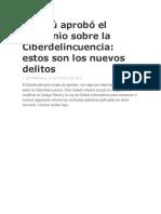 El Perú Aprobó El Convenio Sobre La Ciberdelincuencia